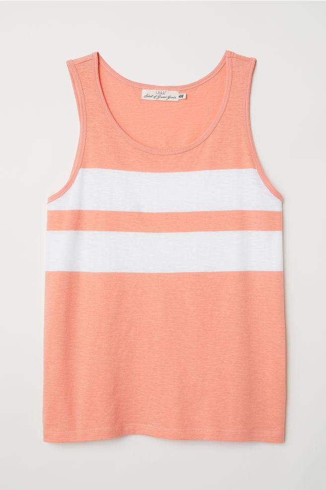0d7eacc7d Vest top - Orange White - Men
