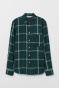 Dark green/white checked
