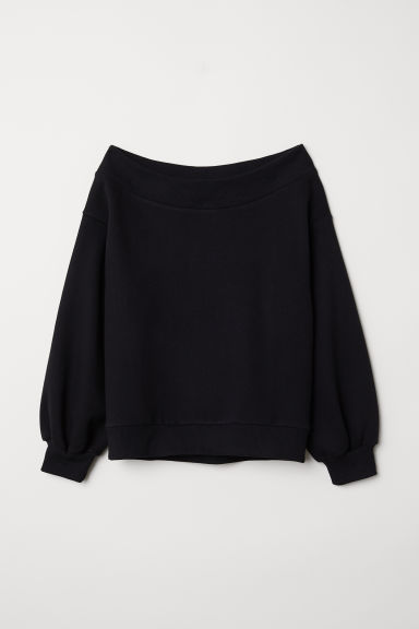 Off-the-shoulder top - Black - Ladies | H&M