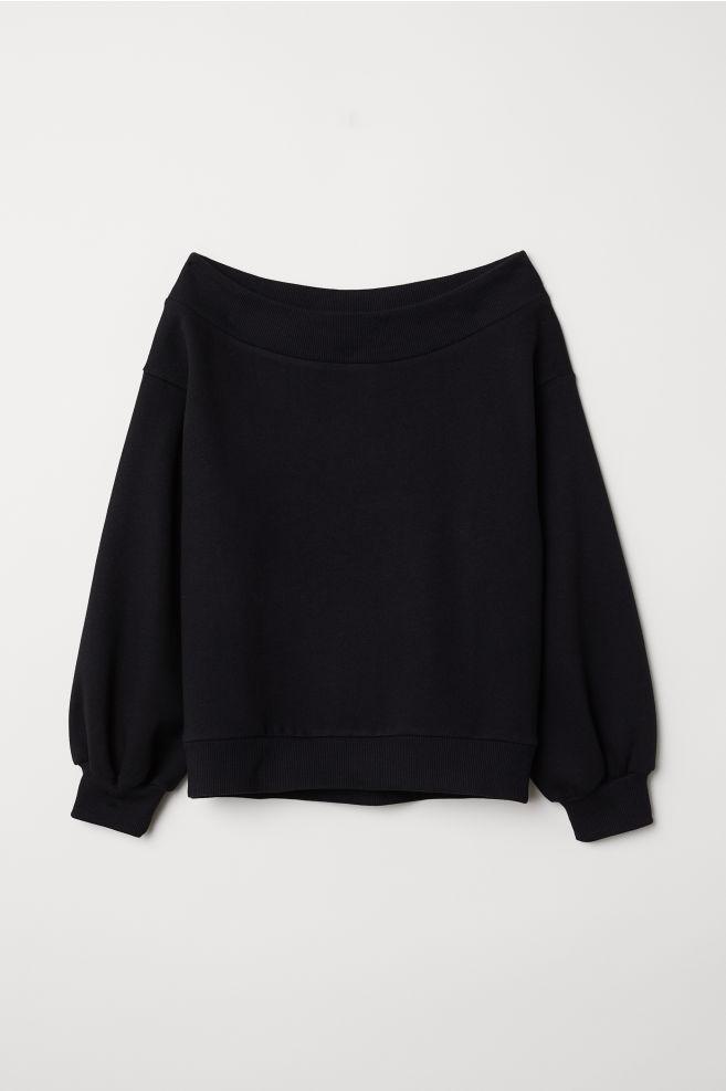 13b0eeeffc05c6 Off-the-shoulder Top - Black - Ladies