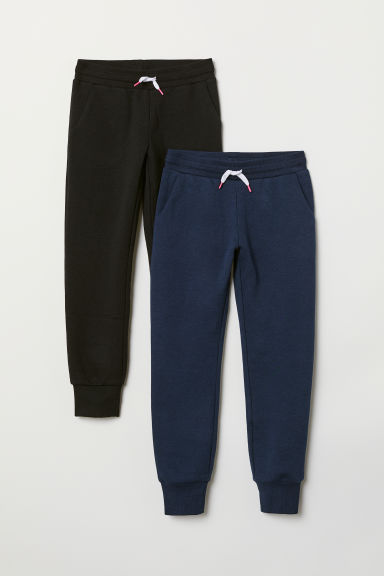 2-pack sweatpants - Black/Dark blue - Kids | H&M CN