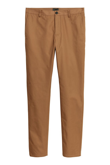 Chino - Slim fit - Lichtbruin - HEREN | H&M BE