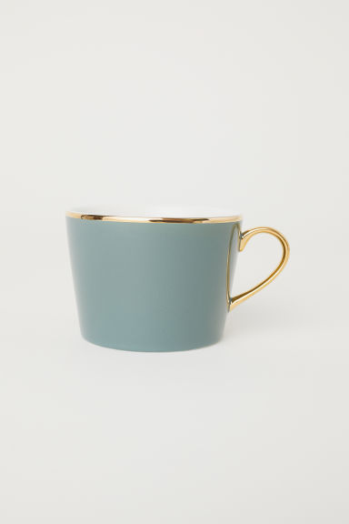 Porcelain cup - Dusky green - Home All | H&M CN