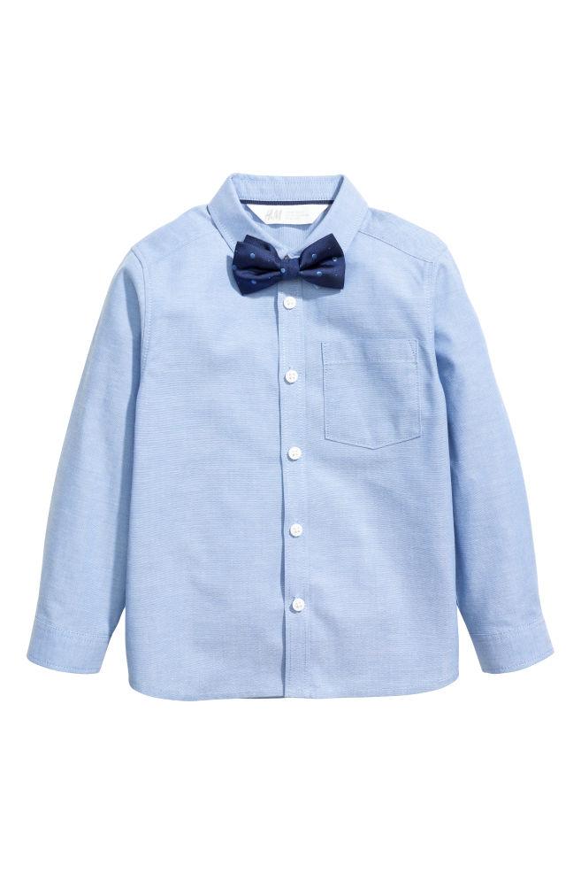 f459819d550f0 Chemise avec cravate/nœud - Bleu/nœud papillon - ENFANT   H&M ...
