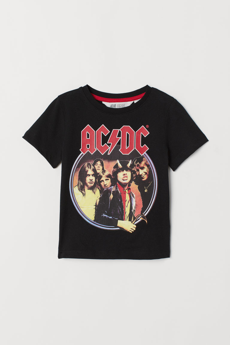 Printed T-shirt - Black/AC/DC - Kids | H&M CN
