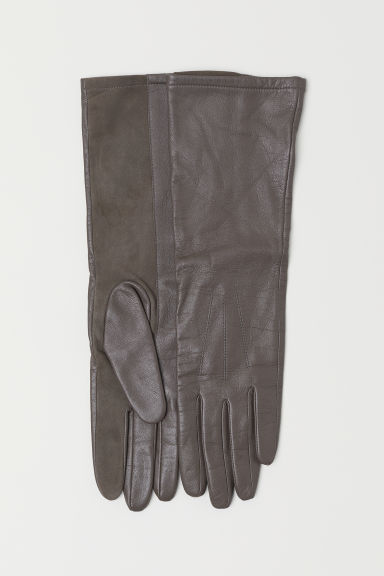 Leather gloves - Dark mole - Ladies | H&M