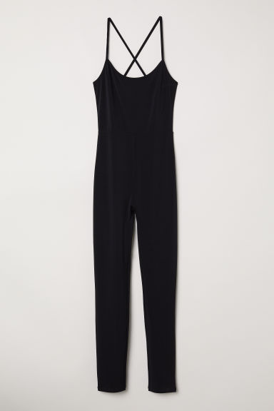 Sleeveless jumpsuit - Black -  | H&M CN