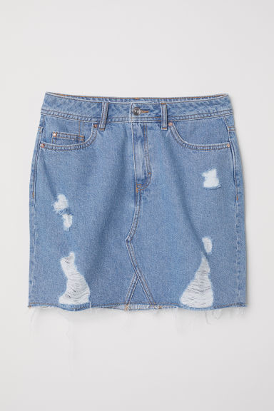Gonna in denim - Blu denim chiaro - DONNA | H&M IT