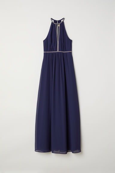 Long dress - Dark blue - Ladies | H&M CN