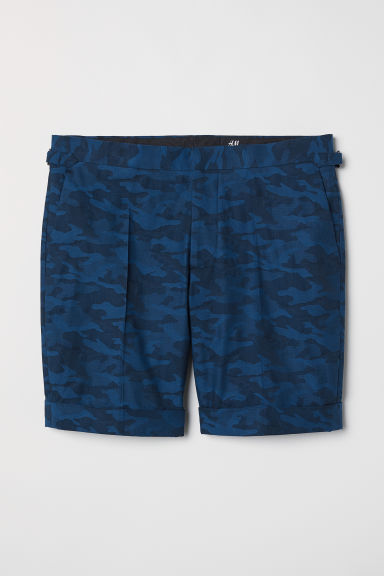 Jacquard-weave city shorts - Dark blue/Patterned -  | H&M