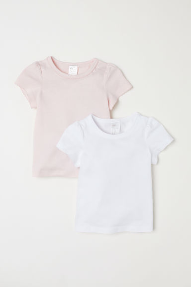 Set van 2 T-shirts - Roze/wit -  | H&M BE