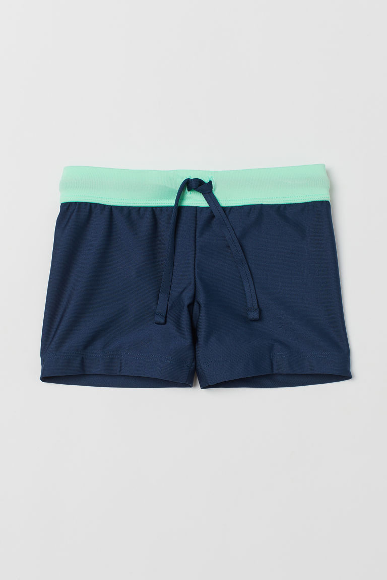 Swimming trunks - Dark blue/Green - Kids | H&M