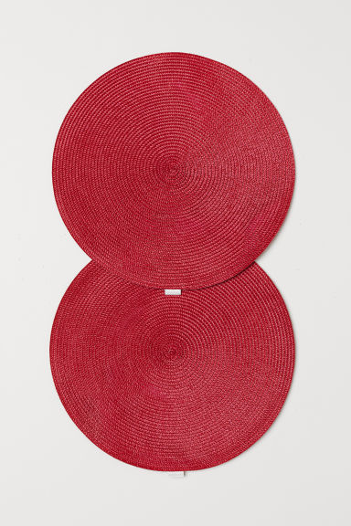 Pack 2 manteles individuales - Rojo - HOME | H&M ES