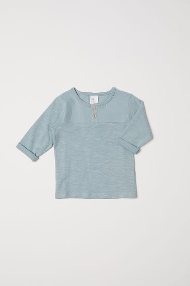 Henley top - Dusky green - Kids | H&M CN