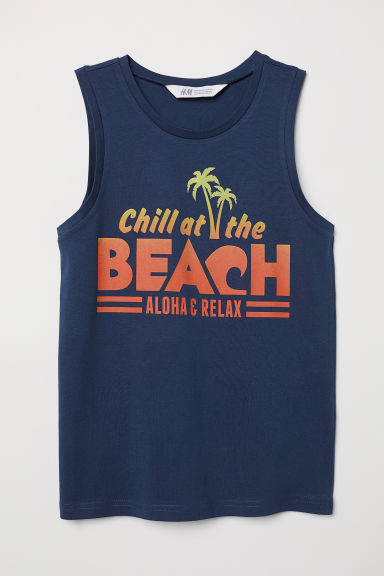 Jersey vest top - Dark blue - Kids | H&M