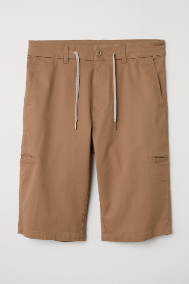 Shorts in twill - Beige scuro - UOMO | H&M IT