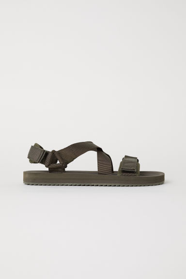 Sandals - Dark khaki green - Men | H&M CN