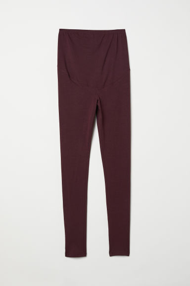 MAMA Jersey leggings - Plum - Ladies | H&M GB