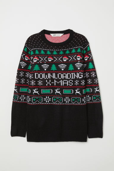 Jumper - Black/Downloading X-mas - Kids | H&M