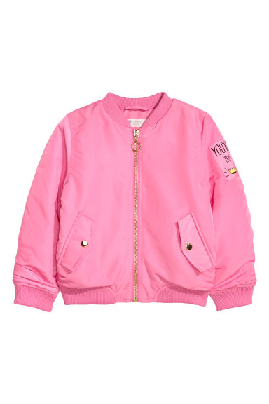 Padded bomber jacket - Pink - Kids | H&M