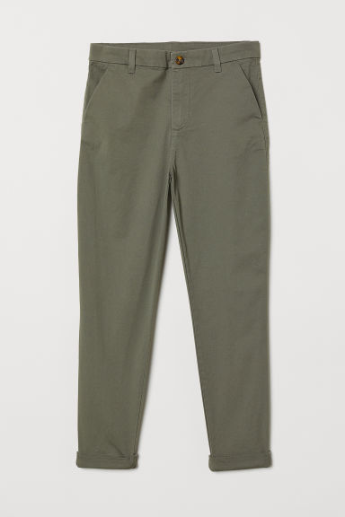 Cotton chinos - Khaki green - Kids | H&M CN