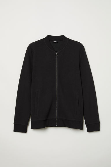 Zipped cardigan - Black - Men | H&M