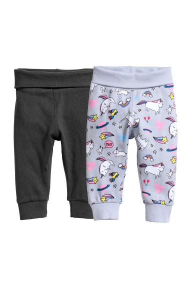 2-pack trousers - Light grey/Unicorn -  | H&M CN