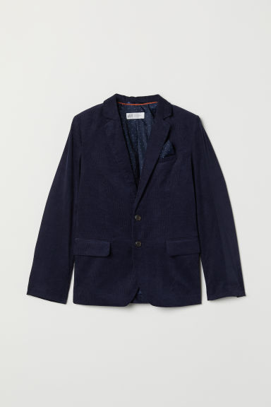 Corduroy jacket - Dark blue - Kids | H&M CN