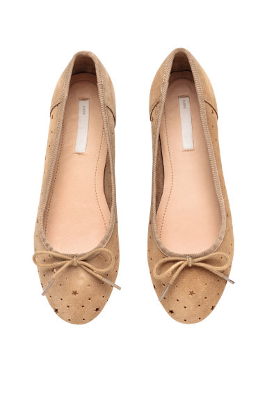 Ballerine scamosciate - Beige -  | H&M IT