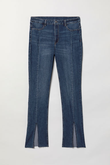 H&M+ Twill Pants with Slits - Denim blue - Ladies | H&M US