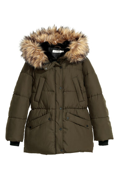 Padded jacket - Dark khaki green - Ladies | H&M
