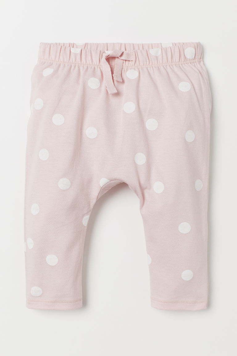 Jersey trousers - Light pink/White spotted - Kids | H&M