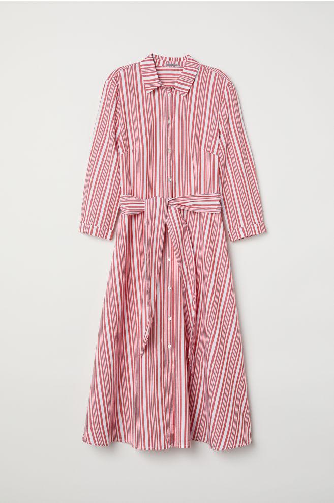 fa76045b43 Striped shirt dress - White/Red striped - Ladies | H&M ...