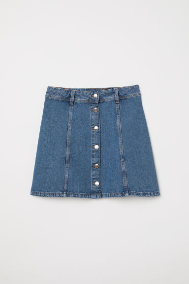 A-line skirt - Denim blue - Ladies | H&M CN