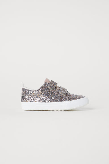 Glittery trainers - Light pink/Glittery -  | H&M