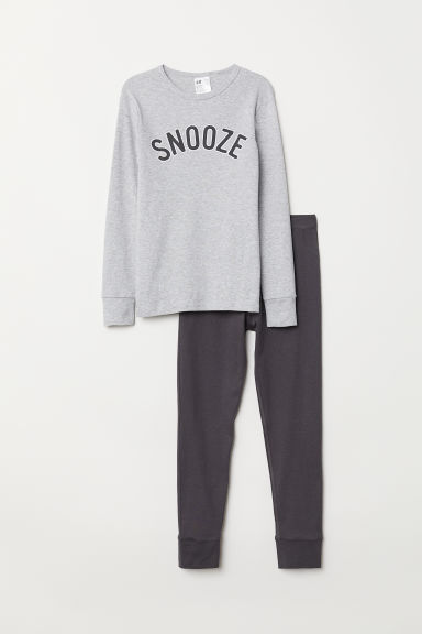 Pyjamas - Grey marl/Snooze - Kids | H&M CN