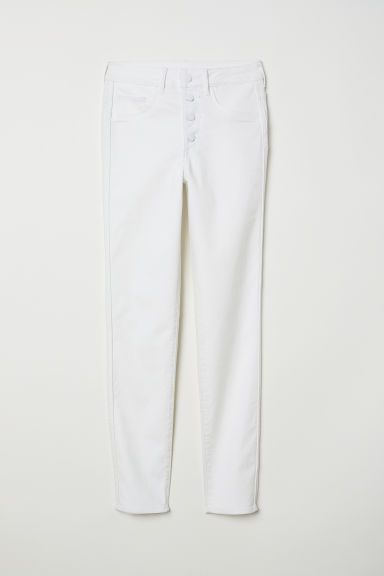 Skinny High Ankle Jeans - Бял - ЖЕНИ | H&M BG