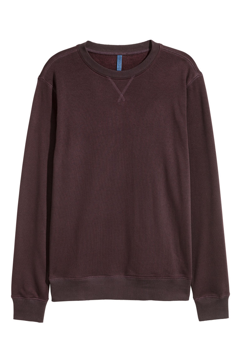 Lightweight sweatshirt - Burgundy - Men | H&M CN