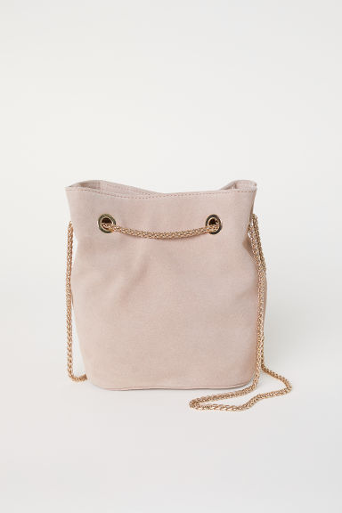Suede bucket bag - Powder pink - Ladies | H&M