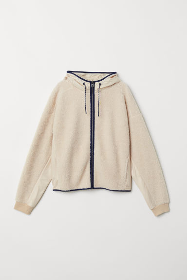 Pile hooded jacket - Light beige - Ladies | H&M