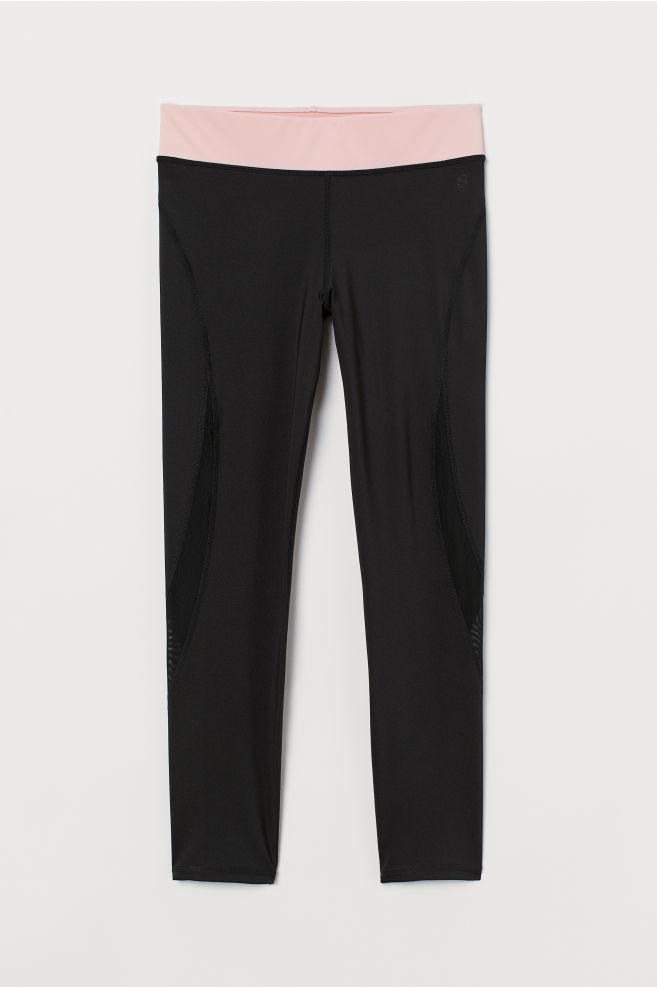 4001d4736 ... Sports tights - Black Light pink - Ladies