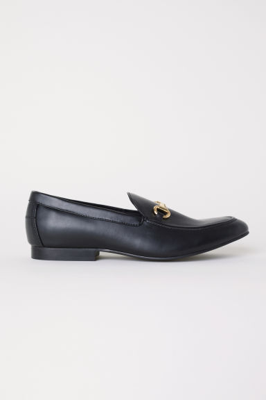 Loafers - Zwart/metalen gesp - HEREN | H&M BE