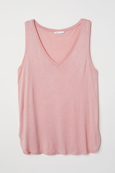 V-neck jersey top - Light pink -  | H&M CN