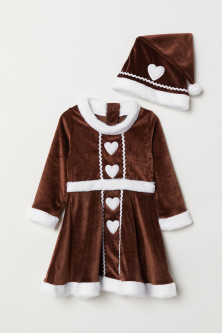 Gingerbread dress and hat