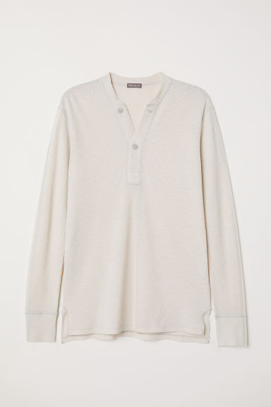 Henley top - Light beige -  | H&M