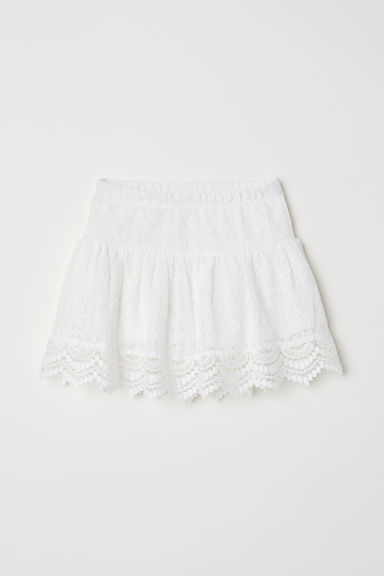 Gonna in pizzo - Bianco - BAMBINO | H&M IT