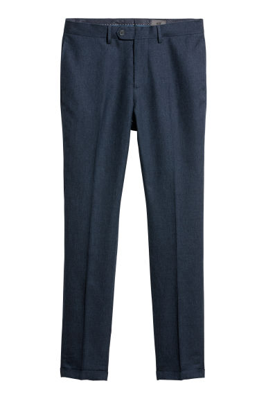 Suit trousers Slim fit - Blue marl - Men | H&M