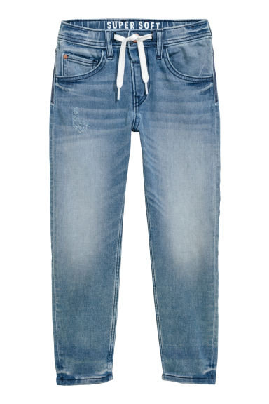 Super Soft denim joggers - Light denim blue -  | H&M