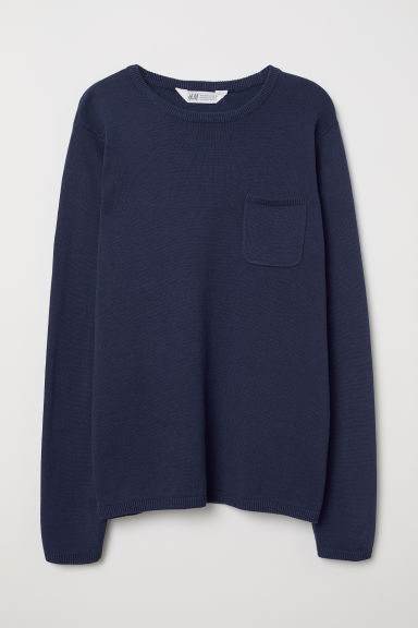 Fine-knit jumper - Dark blue - Kids | H&M