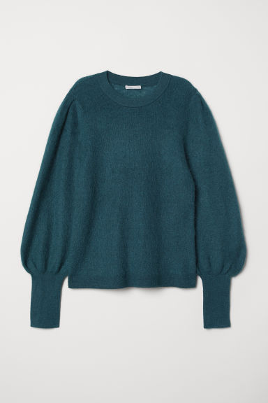 Pullover in misto mohair - Verde scuro - DONNA | H&M IT